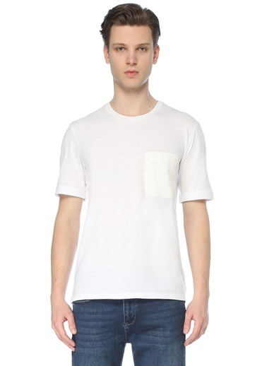 Neil Barrett Neil Barrett  Bisiklet Yaka Cep Detaylı T-shirt 101633715 Beyaz